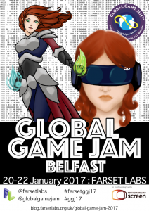 Global Game Jam Belfast 2017 download poster here