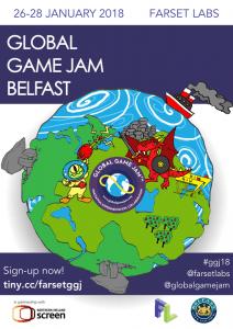 GGJ 2018 Belfast Poster